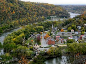 Harpers Ferry, WV -  view from Maryland Heights